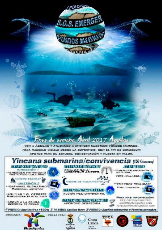 Every weekend in April Save our seabeds diving experience in Águilas