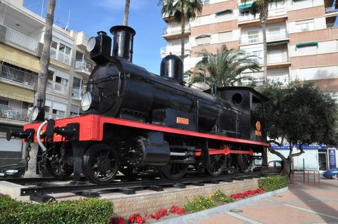 Águilas, Route of the railways