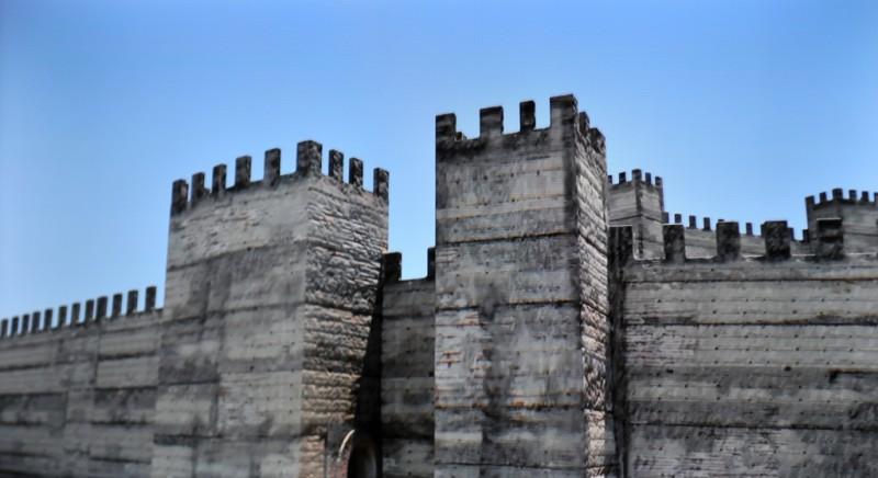 The MUDEM museum and the medieval wall of Molina de Segura