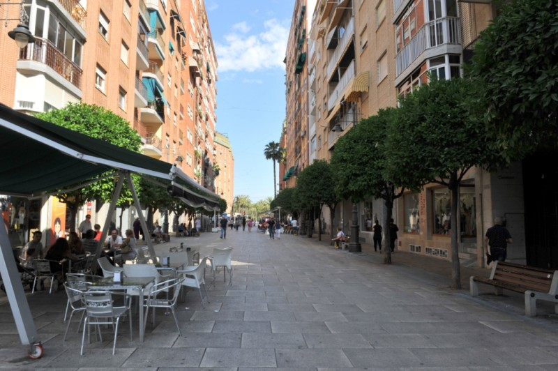 The Paseo Rosales, the main pedestrian avenue of Molina de Segura