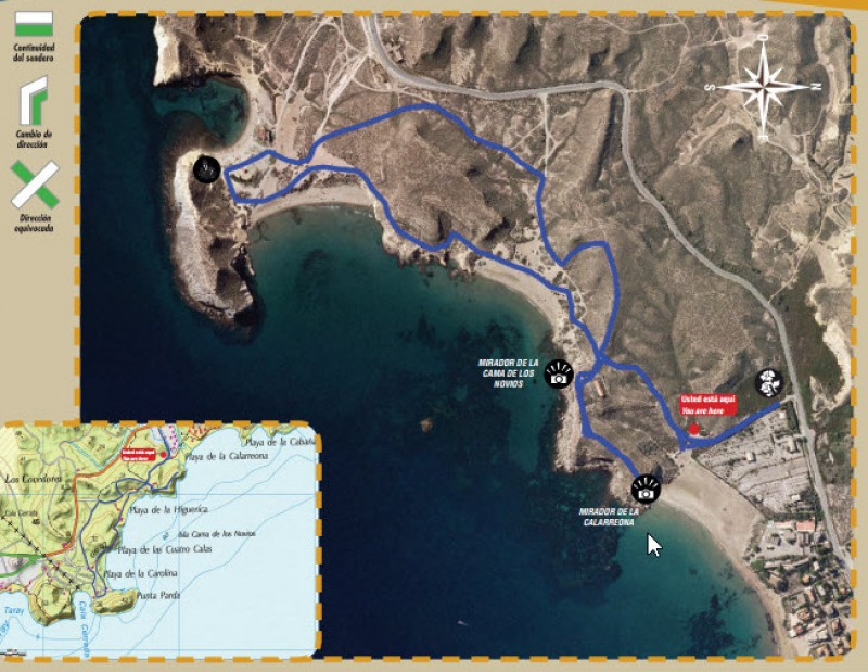 The Cuatro Calas coastal walk in Águilas SL-MU18