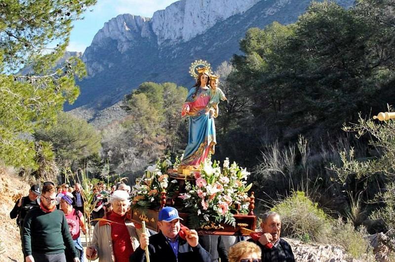 Sunday 13th January 2019 Romería of the Virgen de la Luz in El Cañar, Tallante Cartagena