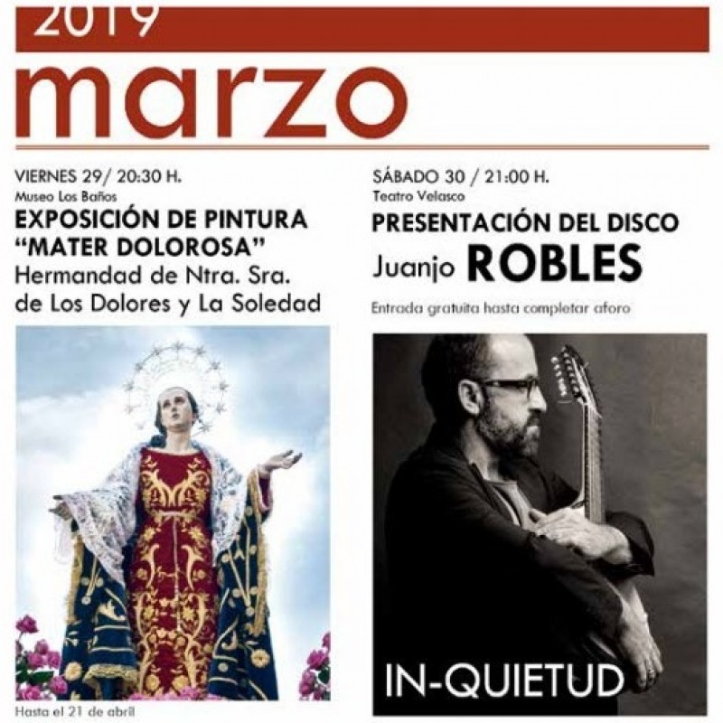 <span style='color:#780948'>ARCHIVED</span> - 30th March Free concert in Alhama de Murcia with Juanjo Robles