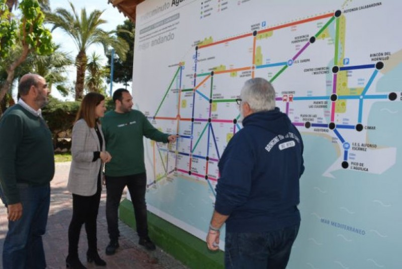 <span style='color:#780948'>ARCHIVED</span> - Metro-style map in Águilas encourages people to walk rather than drive
