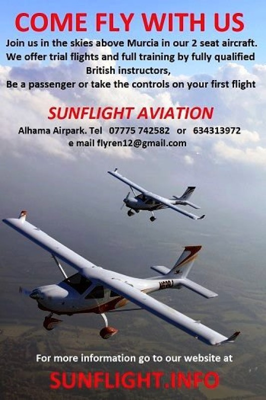 Sunflight Aviation, Come fly with us on a microlight flying over the Costa Cálida!