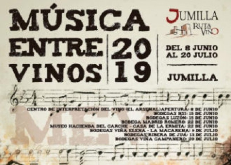 <span style='color:#780948'>ARCHIVED</span> - 8th June to 20th July: Música entre Vinos in Jumilla