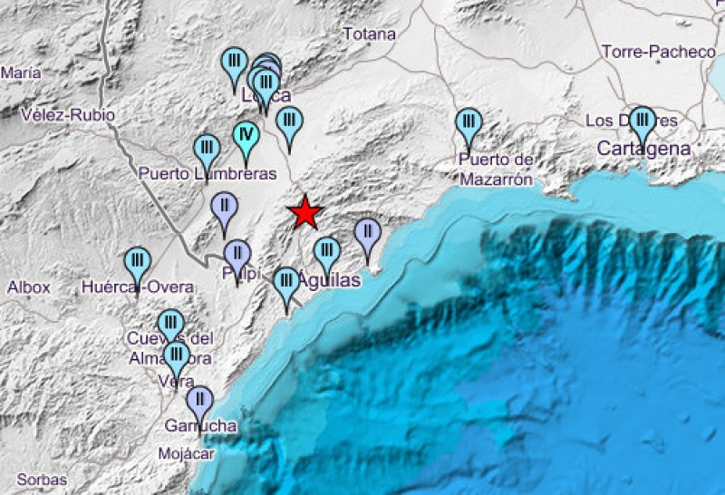 <span style='color:#780948'>ARCHIVED</span> - 3.8 mbLg earthquake shakes Lorca Águilas and Puerto Lumbreras