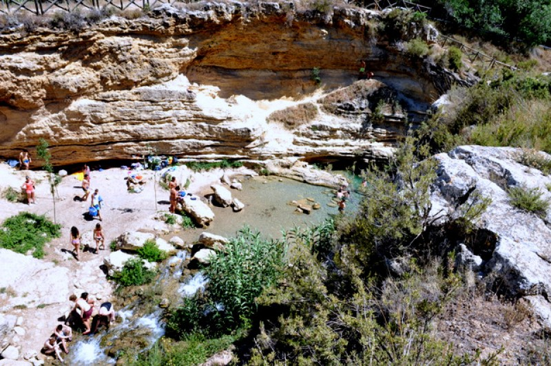 Summer visitor numbers restricted at the Salto del Usero bathing spot in Bullas