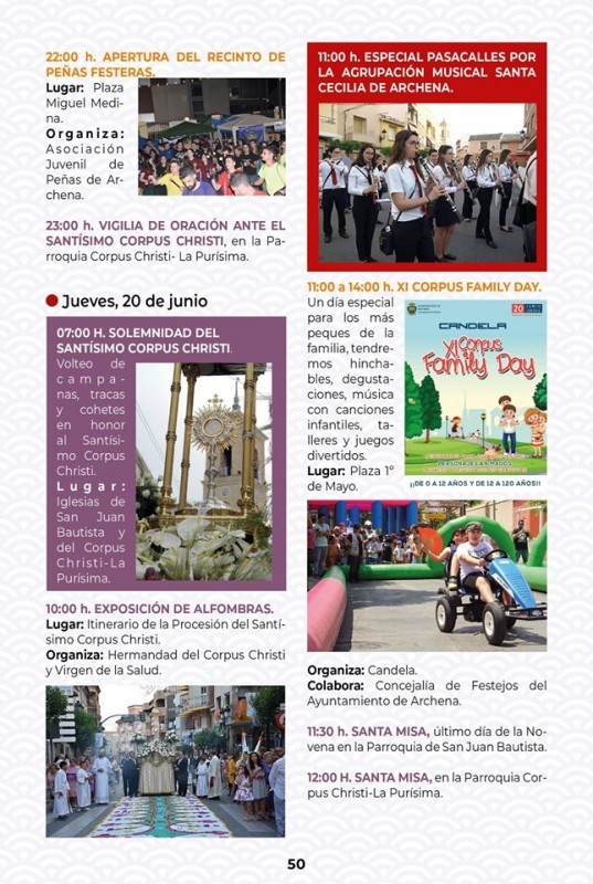 <span style='color:#780948'>ARCHIVED</span> - 18th to 23rd June Corpus Cristi and Fiestas in Archena