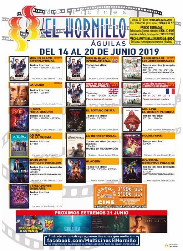 <span style='color:#780948'>ARCHIVED</span> - Tuesday 18th June ENGLISH language cinema at the Multicines El Hornillo in Águilas