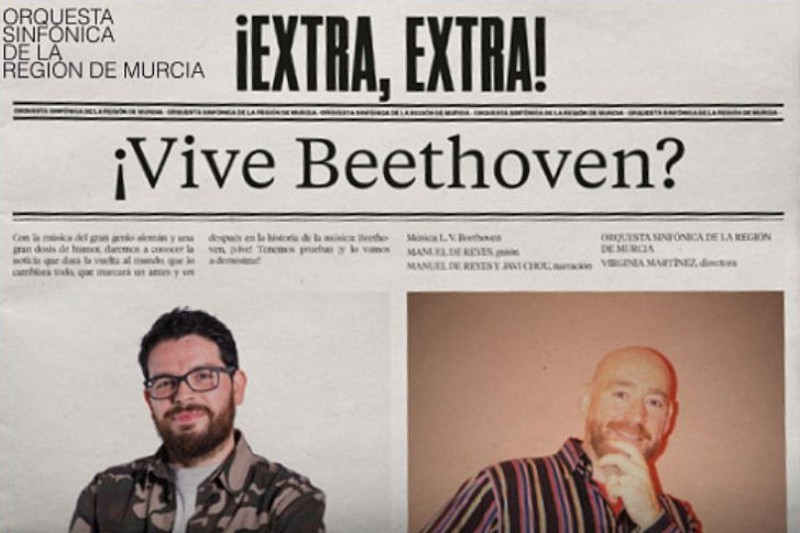 <span style='color:#780948'>ARCHIVED</span> - 23rd February 2020 ¿Vive Beethoven? in the family concert cycle at the Auditorio Víctor Villegas in Murcia