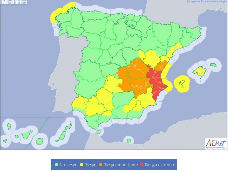 <span style='color:#780948'>ARCHIVED</span> - AEMET reduces Gota Fría alert level down to yellow