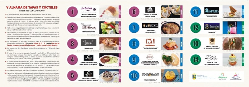 <span style='color:#780948'>ARCHIVED</span> - 8th to 17th November 2019 Alhama de Murcia Tapas Route