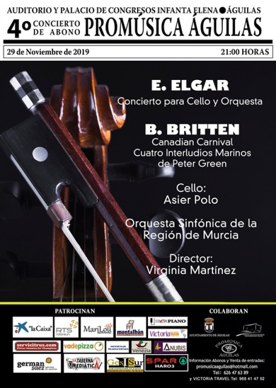 <span style='color:#780948'>ARCHIVED</span> - Friday 29th November Elgar and Britten with the OSRM at Águilas Auditorium