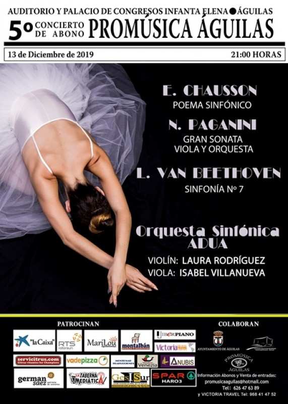 <span style='color:#780948'>ARCHIVED</span> - Friday 13th December the ADUA Symphony Orchestra at the Infanta Elena in Águilas