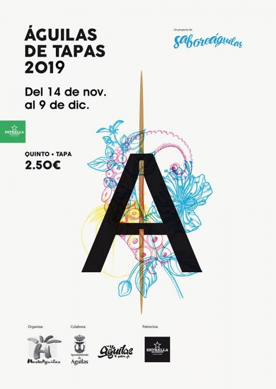 <span style='color:#780948'>ARCHIVED</span> - 14th November to 9th December Águilas Tapas Route