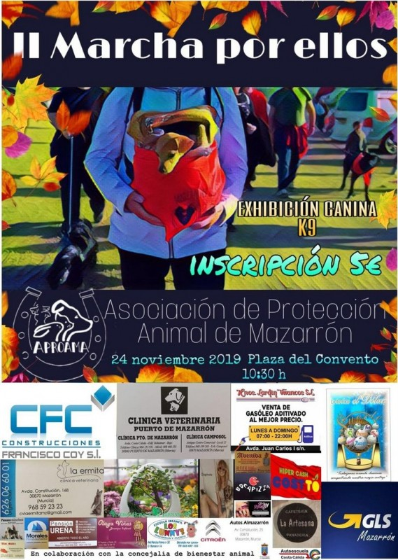 <span style='color:#780948'>ARCHIVED</span> - Sunday 24th November fundraising dog walk in Mazarrón with APROAMA