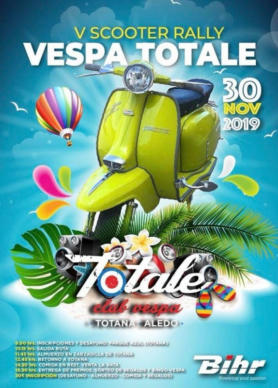 <span style='color:#780948'>ARCHIVED</span> - 30th November Totana: 5th Scooter Rally Vespa Totale