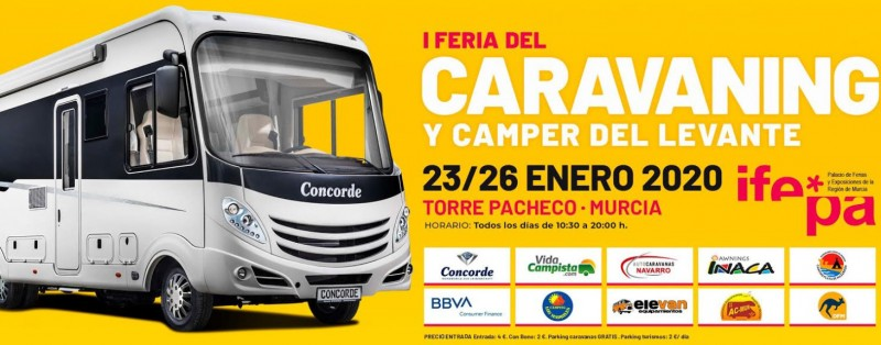 23rd to 26th January, Camper Van and Motor Home fair in Torre Pacheco