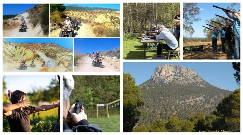 Hotel Mariposa January offer; quad biking, lunch and laser clay pigeon shooting day