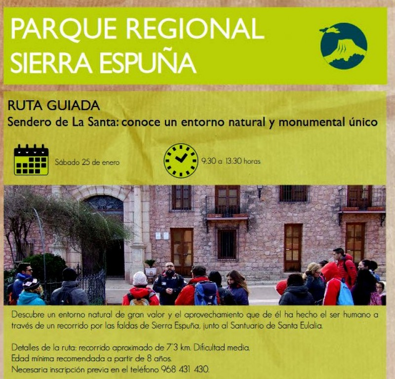 Saturday 25th January Free 7km family walk in the Sierra Espuña