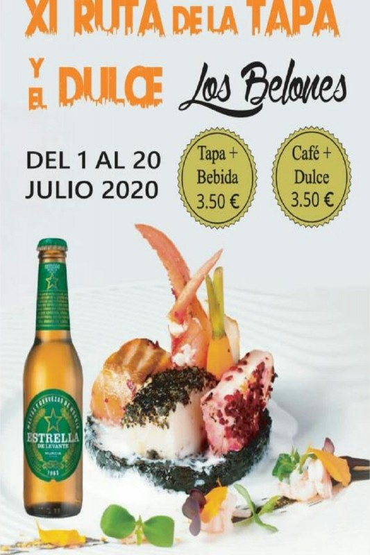 <span style='color:#780948'>ARCHIVED</span> - 1st to 20th July Los Belones Tapas and desserts route