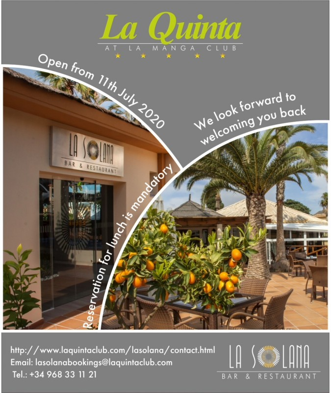 Covid safety measures and cleaning at La Quinta Club La Manga club ahead of the reopening July 11th