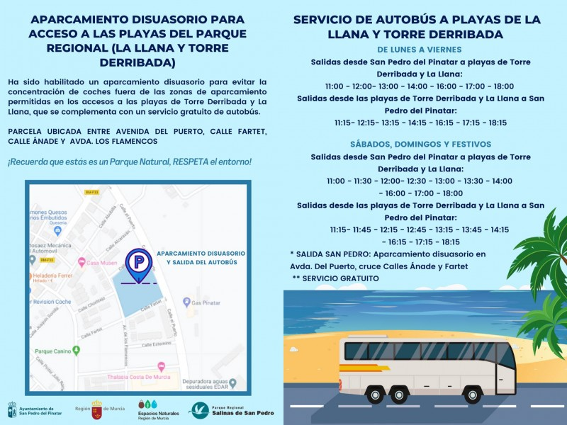<span style='color:#780948'>ARCHIVED</span> - Free bus service to San Pedro del Pinatar Mediterranean beaches