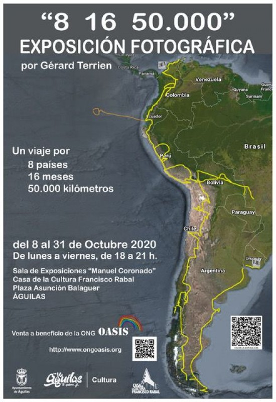 <span style='color:#780948'>ARCHIVED</span> - Gérard Terrien photographic exhibition 8th to 31st October Águilas
