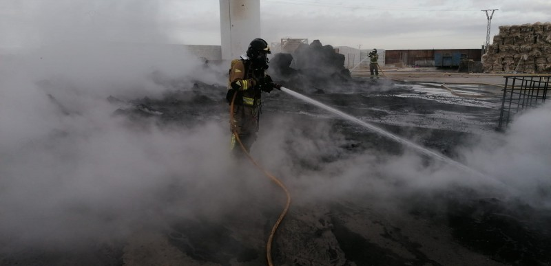 <span style='color:#780948'>ARCHIVED</span> - Fire at Torre Pacheco recycling plant