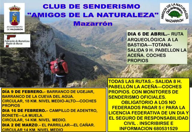 <span style='color:#780948'>ARCHIVED</span> - 16th February, Senderismo route, Amigos de la naturaleza, Mazarron