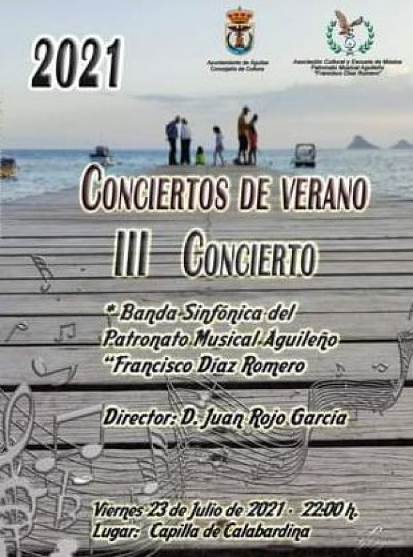 <span style='color:#780948'>ARCHIVED</span> - Free summer concerts in Aguilas on 15, 23 and 30 July