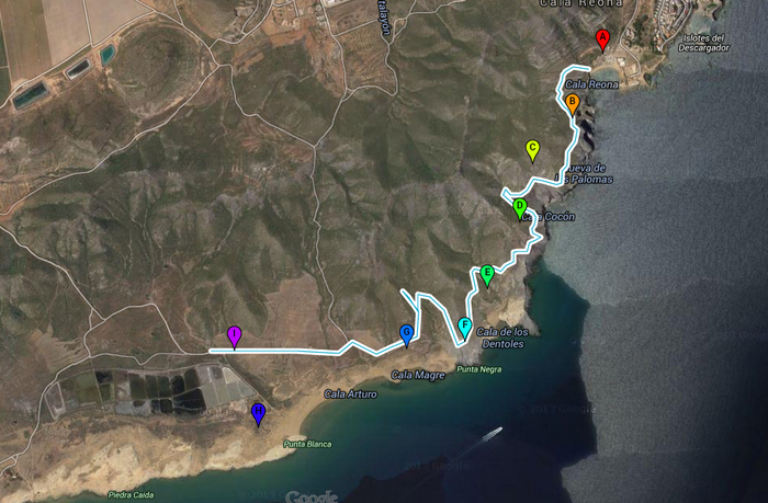4km Geological walk from Cala Reona to Salinas del Rasall in Calblanque