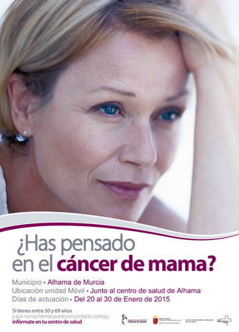 <span style='color:#780948'>ARCHIVED</span> - Until 30th January, breast cancer protection campaign in Alhama de Murcia
