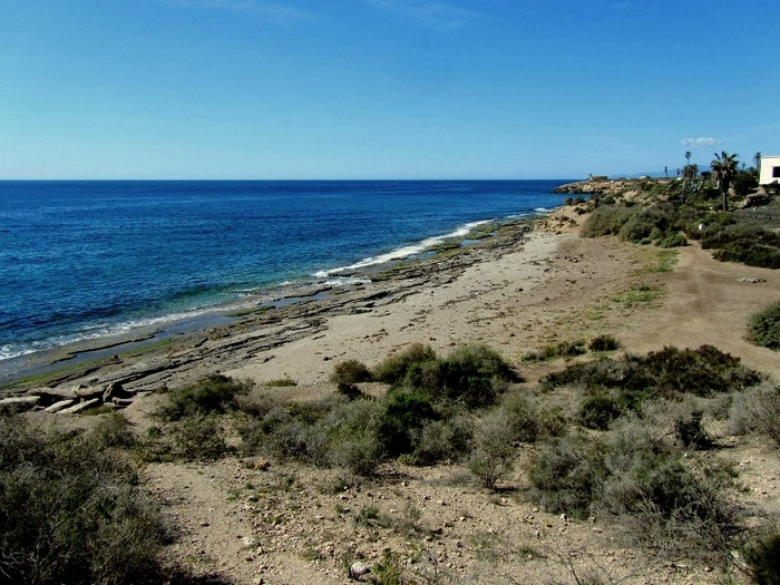 Águilas beaches: Playa de la Cañada del Negro, dog friendly beach