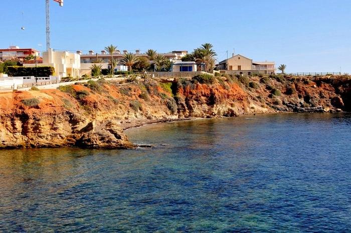 Cartagena beaches: Cala de las Melvas beach in Cabo de Palos