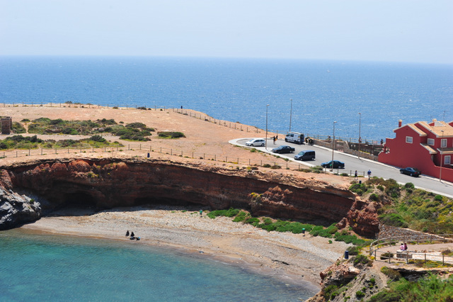 Cartagena beaches: Playa Calafría, Cabo de Palos