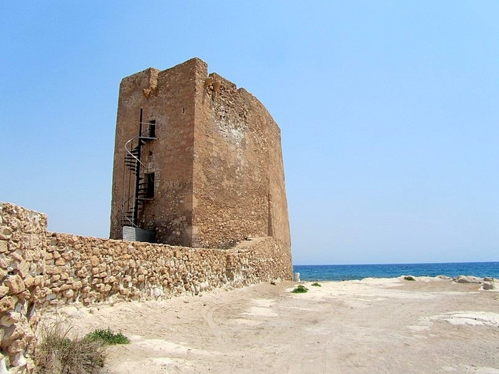 Ermita de Cope, a ruined 16th-century chapel on the Águilas coast