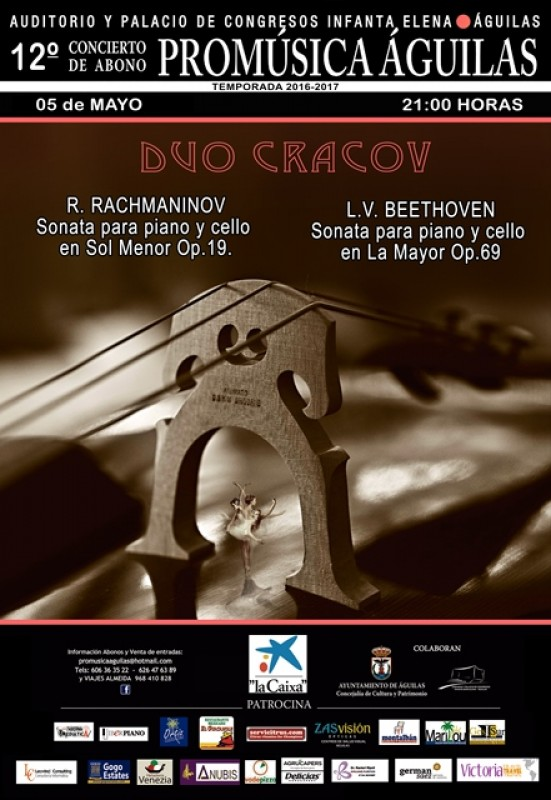 5th May Rachmaninov and Beethoven in the Águilas Auditorium