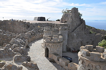 The batteries and gun emplacements at Castillitos and El Jorel, Cabo Tiñoso