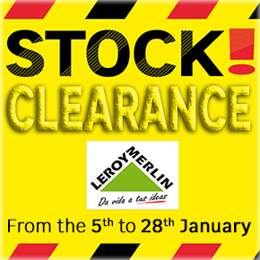 Leroy Merlin Stock Clearance