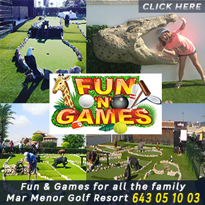 Fun & Games Banner Mar menor Golf Resort